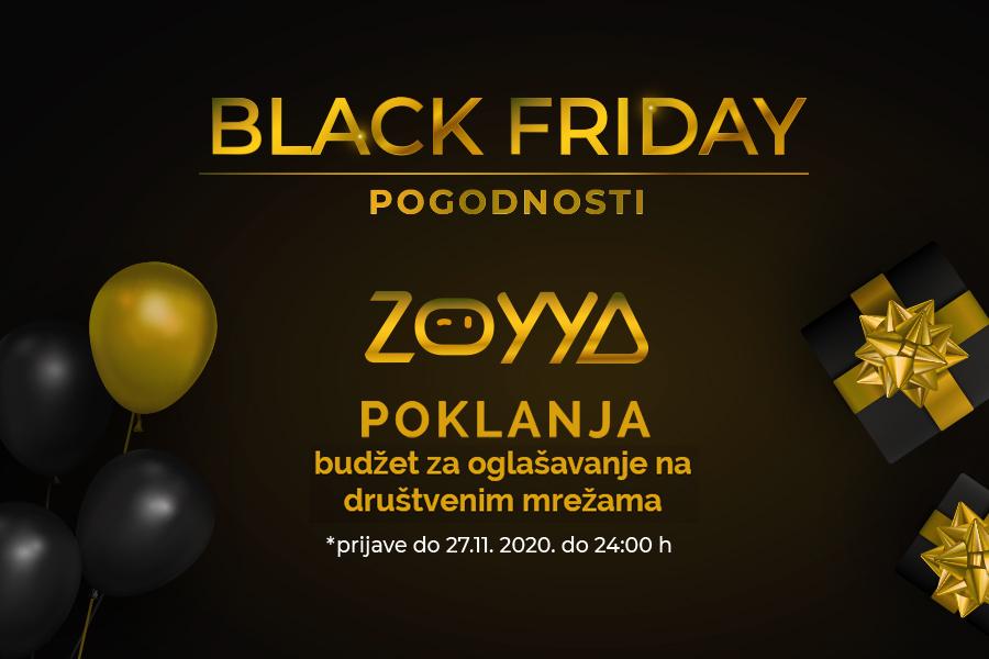 Black Friday: Zoyya poklanja Facebook oglašavanje vaših usluga