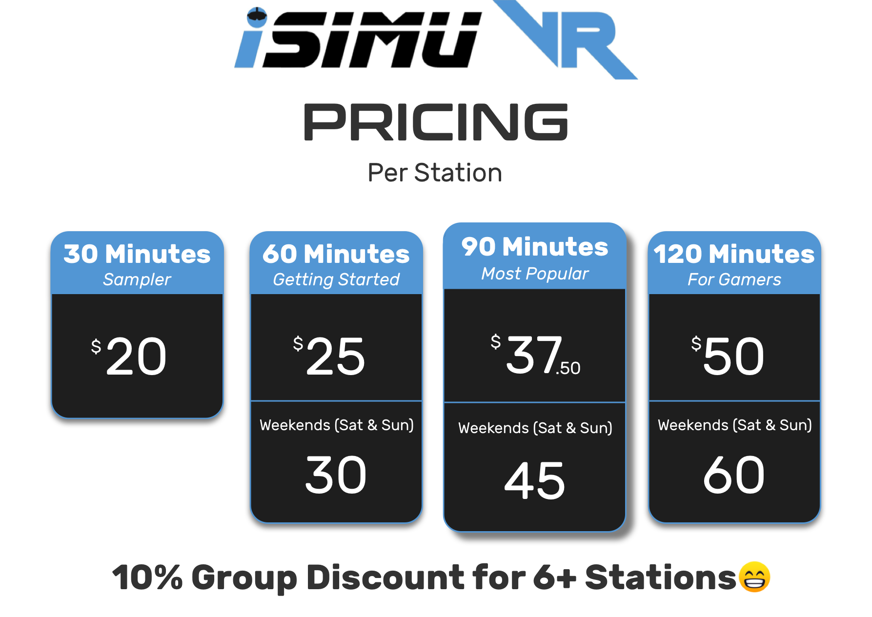 New iSimu VR Pricing