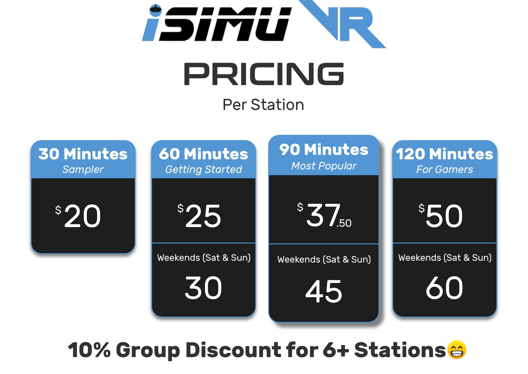 New iSimu VR Pricing