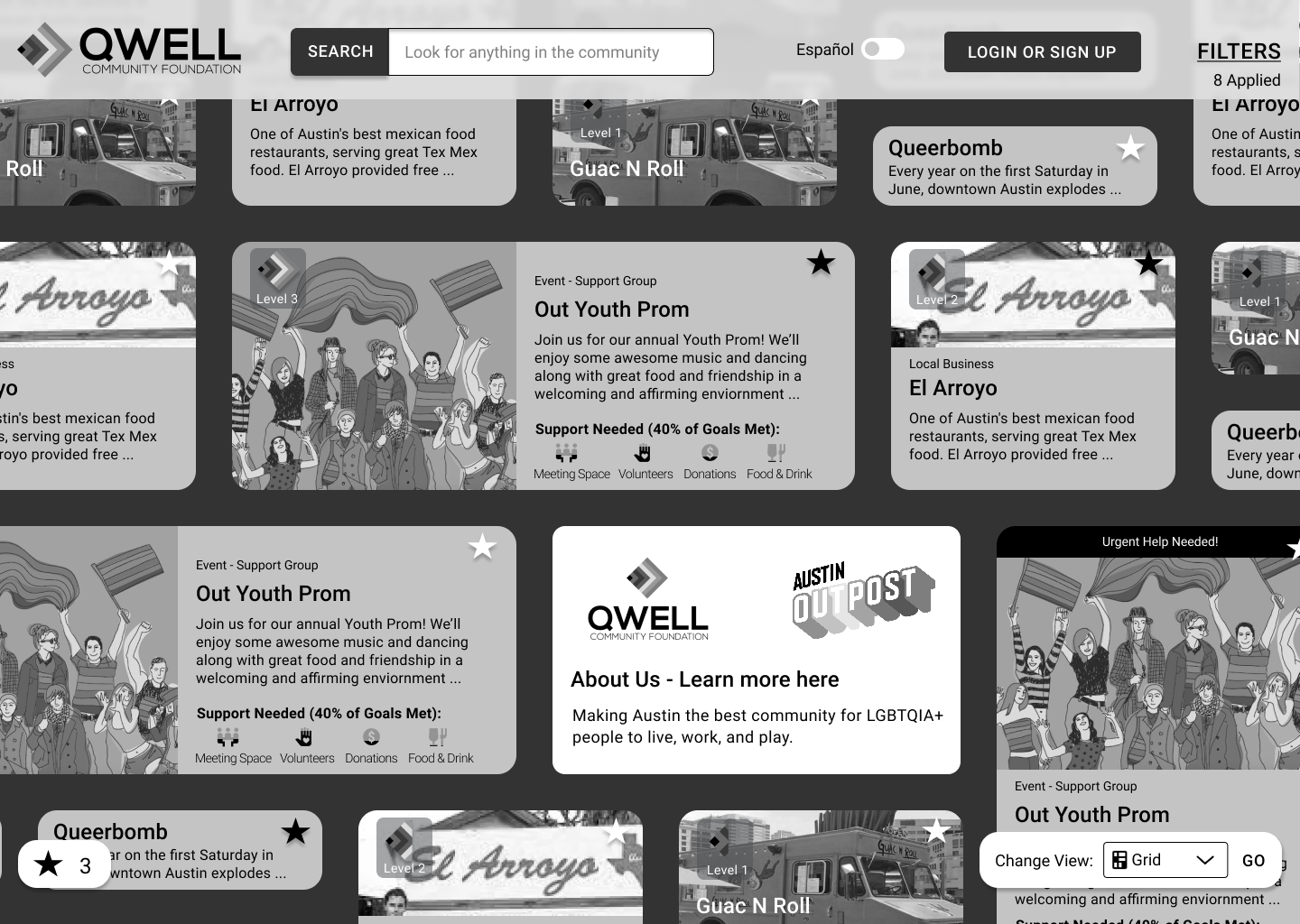 QWELL Converged Homepage