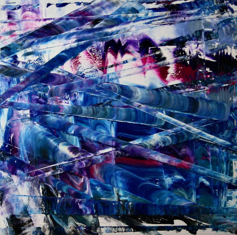olio su tela 100x100 cm