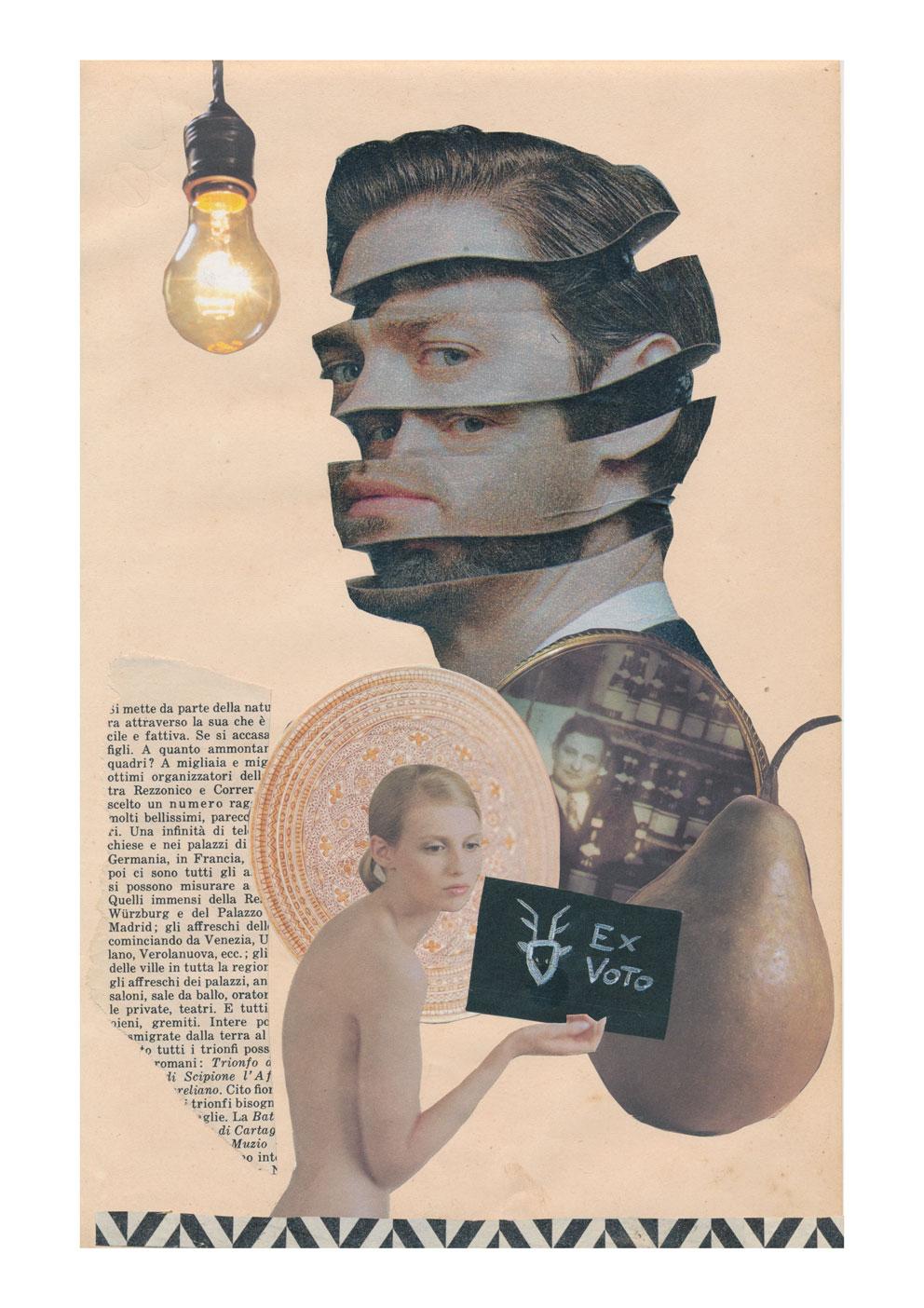 Collage su carta 21x29,7 cm