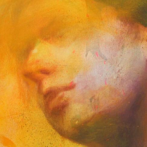 Olio e acrilico spray su tela 60x90 cm