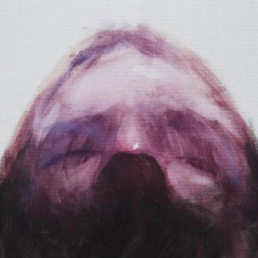 Olio e acrilico spray su tela 40x50 cm