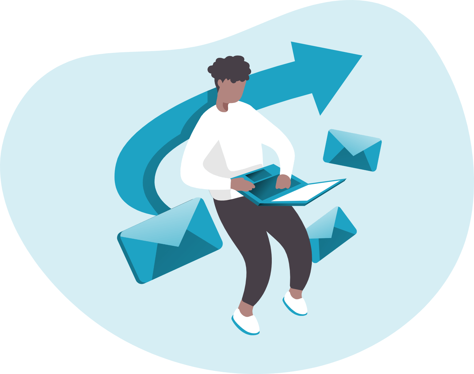 Drawing sending emails