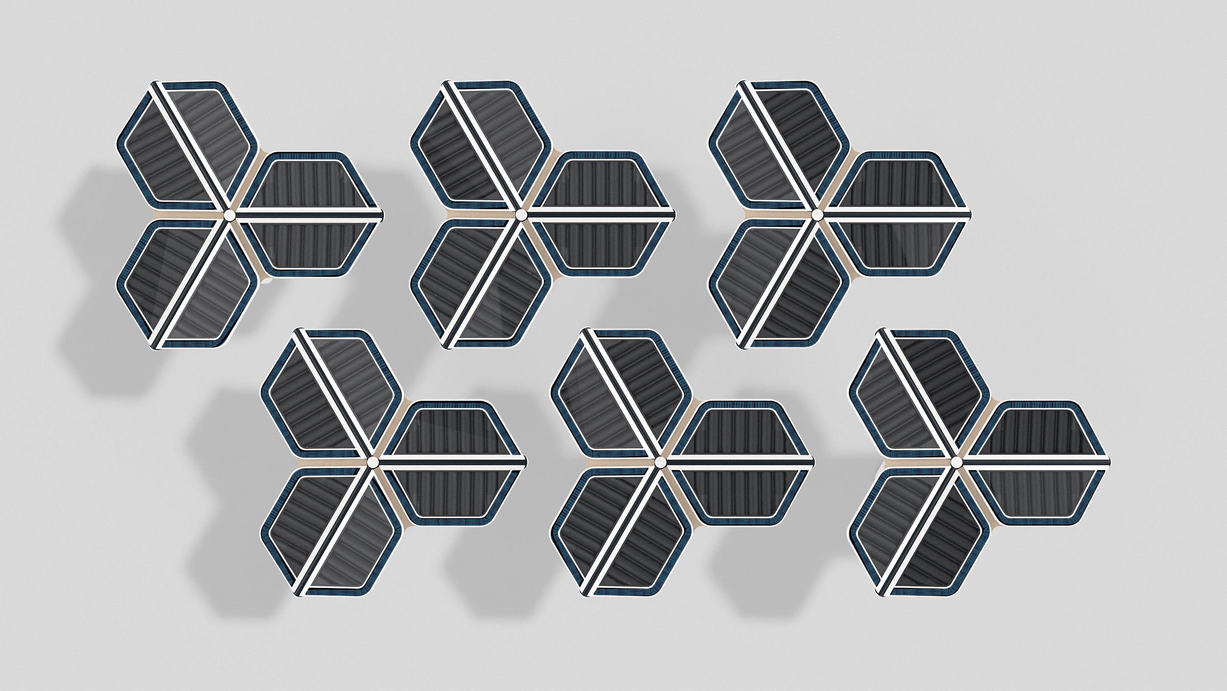 Solar Flower heater tessellation