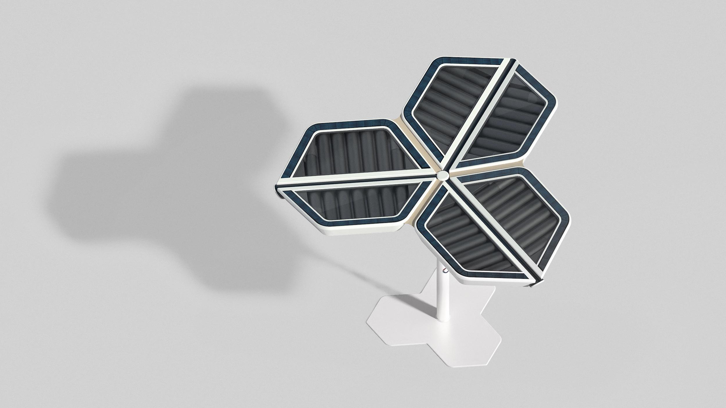 Solar Flower heater slats