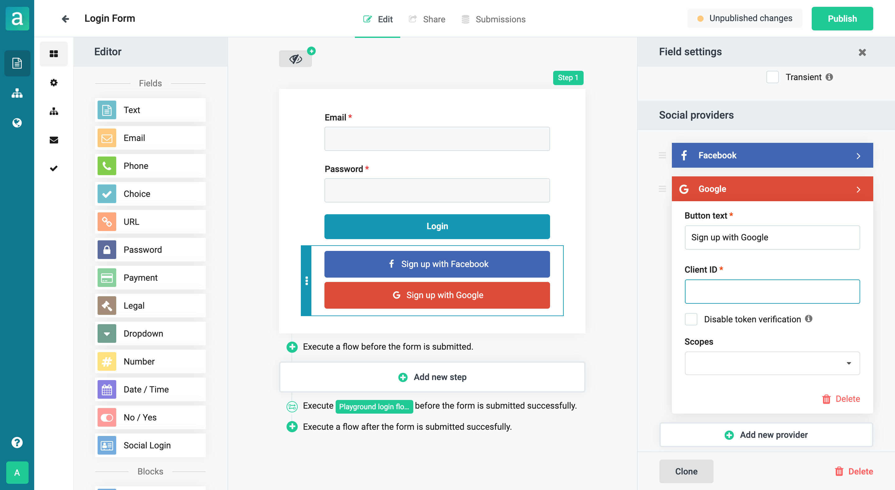 Social login with Google in Arengu
