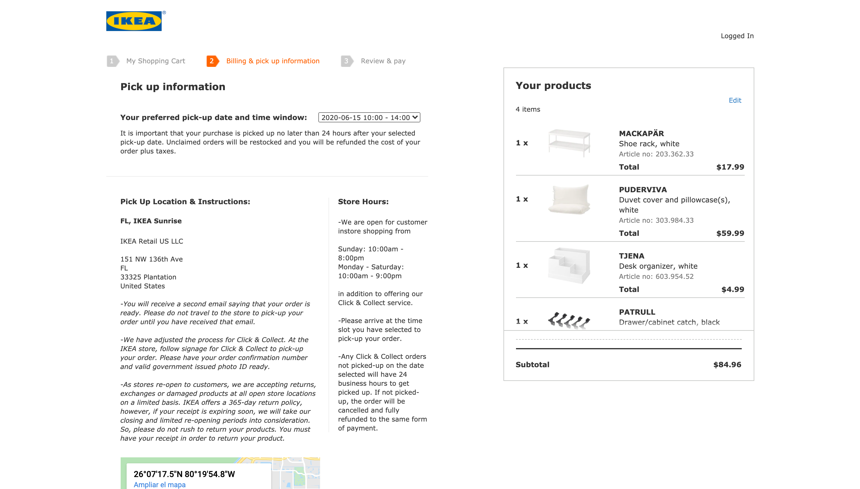 Ikea's checkout - Review and analysis on ecommerce checkouts