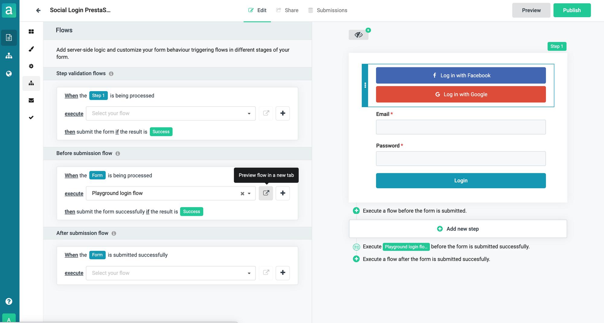 Social login forms for PrestaShop
