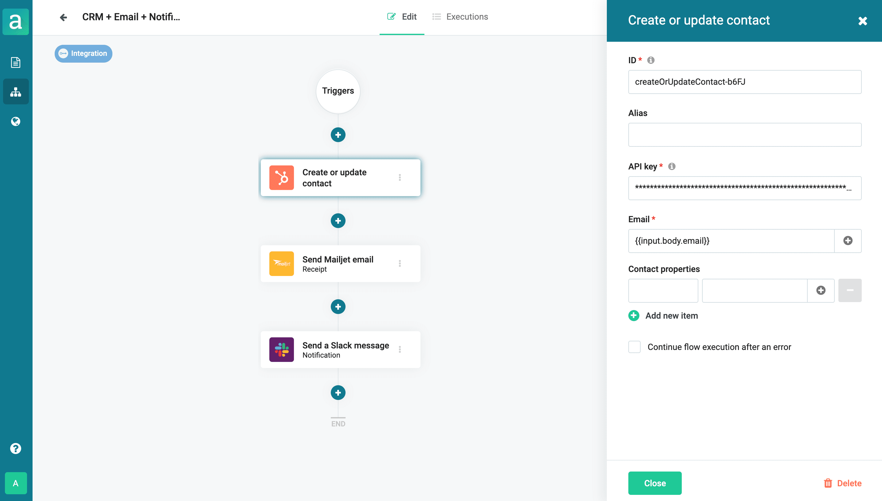 Update CRM after payment flow