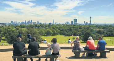 Skyline View of Primrose Hill London