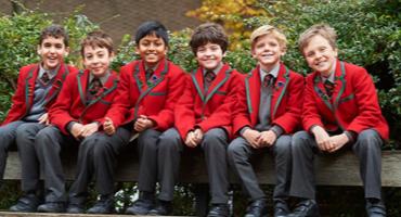 Kids dressed in uniform in St Johns Wood