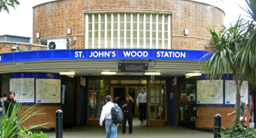 Outside view of St Johns Wood tube station