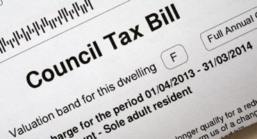 Black and white council tax bill for Mill Hill.