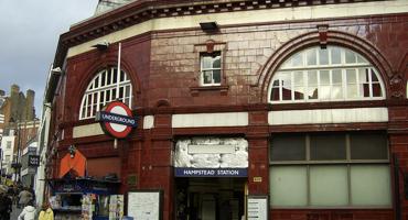 Outside of Hampstead tube station