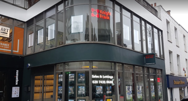 Front glass exterior of Knight Frank in Hampstead