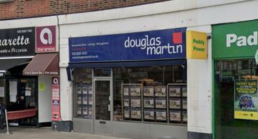 Outside of Douglas Martin in Hendon.