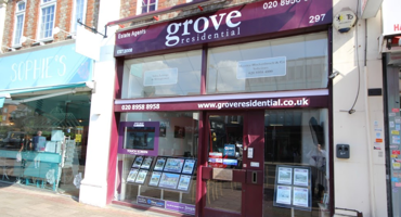 Outside of Grove residential estate agent in Edgware.