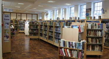 Inside view of West Hampstead Library.