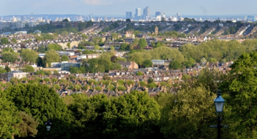 City views of London from Alexandra Park in Muswell Hill.