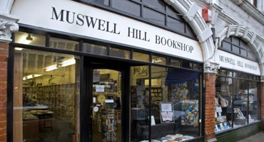 Exterior of Muswell Hill Bookshop in North London.