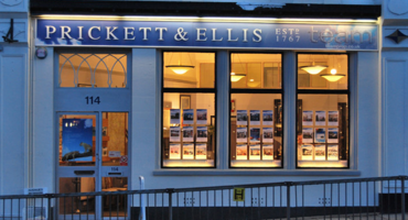 Exterior of Prickett Ellis in Muswell Hill.