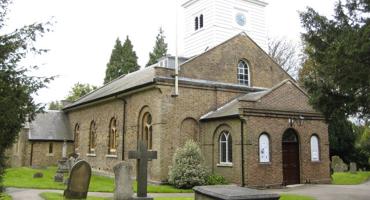 Centurys old exterior of St Andrews Church of England school in Totteridge.