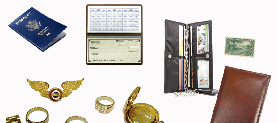 A selection of sentimental items like rings and a wallet