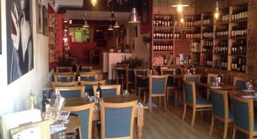 Interior of Bella Mia Italian restaurant in North Finchley.