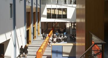 Modern interior at Wren Academy in North Finchley.