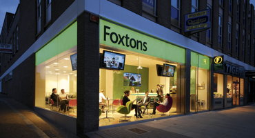 Exterior of Foxtons Estate Agents in North Finchley, London.
