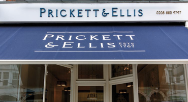 Prickett & Ellis storefront in East Finchley.