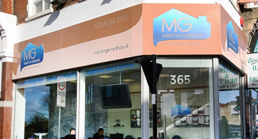 Shop front for Martyn Gerrard in Finchley.