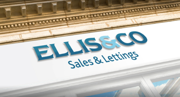 Shop front logo for Ellis & Co in Finchley.