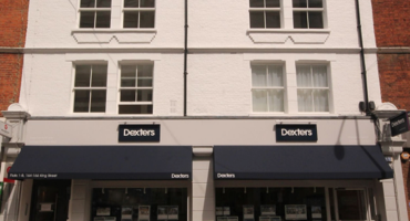 Shop front for Dexters Estate Agent in Hammersmith.