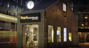 Exterior of Peach Properties in East London.