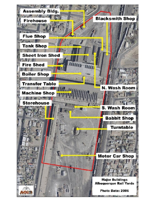 Barelas Rail Yards Map