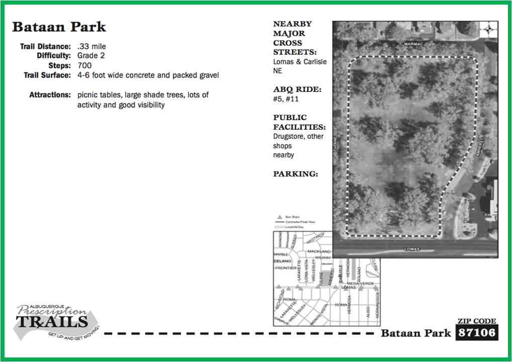 Bataan Park Map and Walk