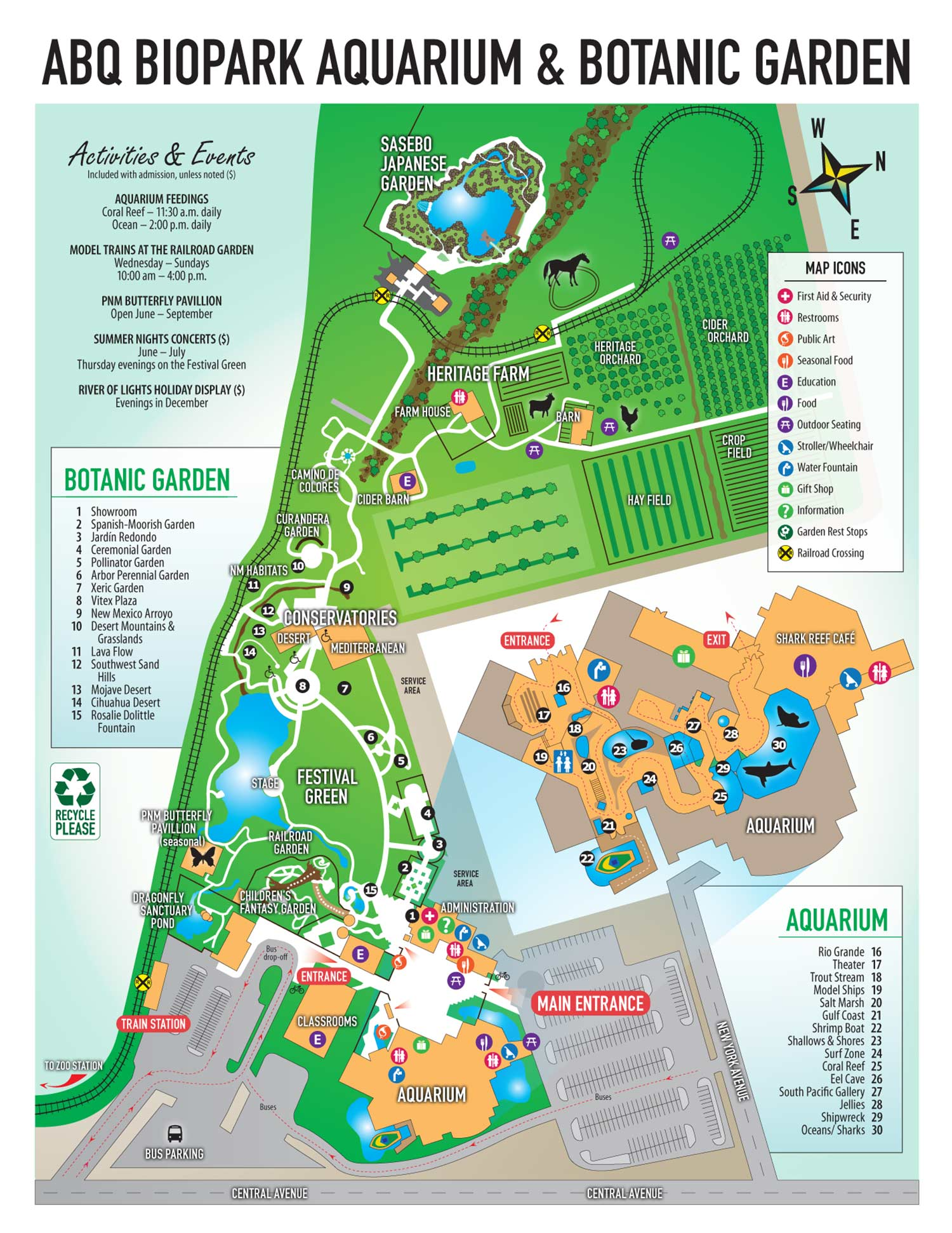 Biopark Aquarium and Botanic Garden Map