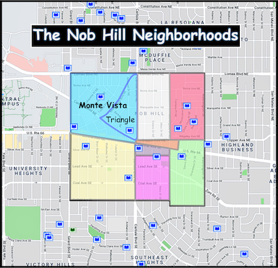 Map of Monte Vista Neighborhood