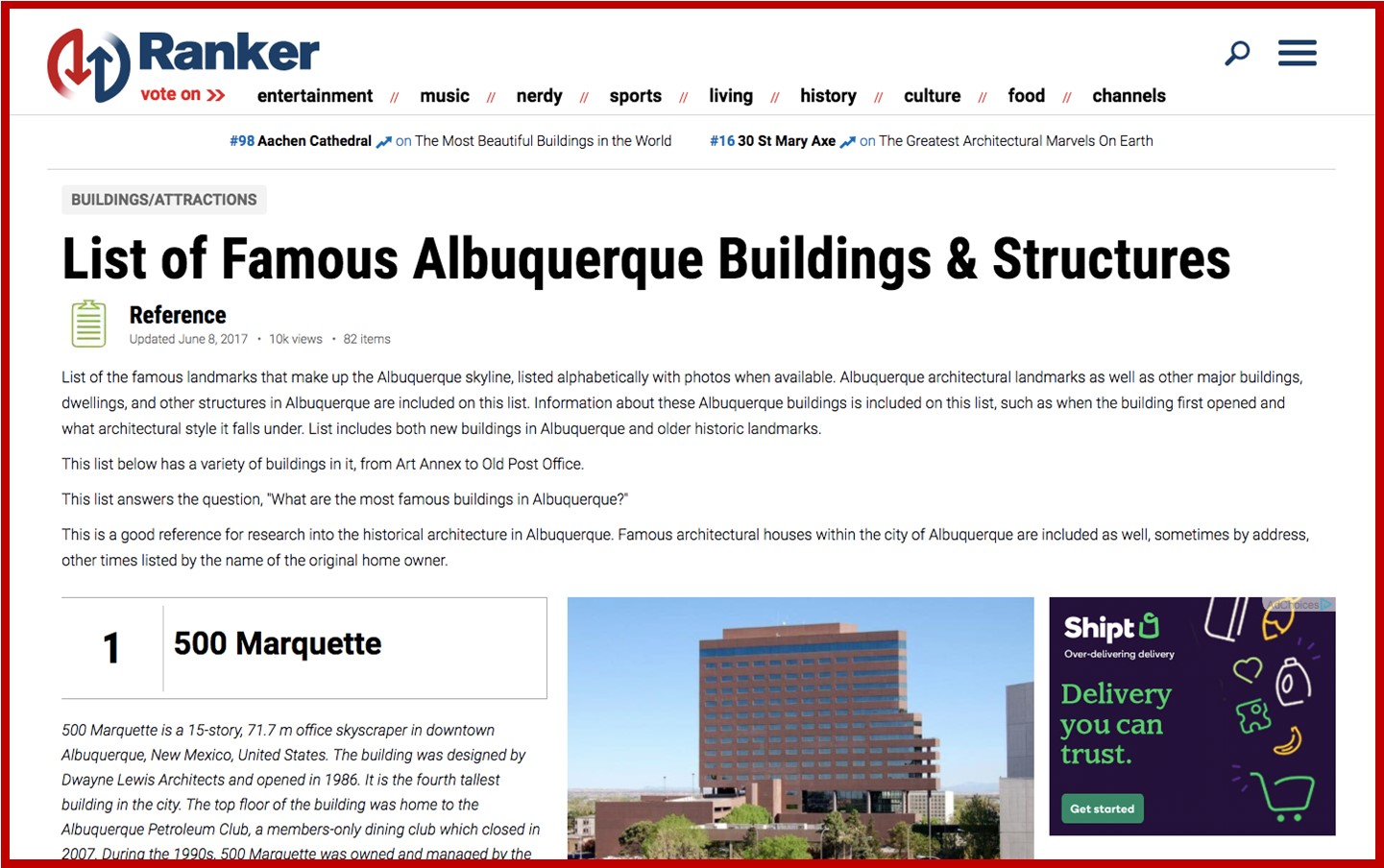 Famous MetroABQ Buildings & Structures