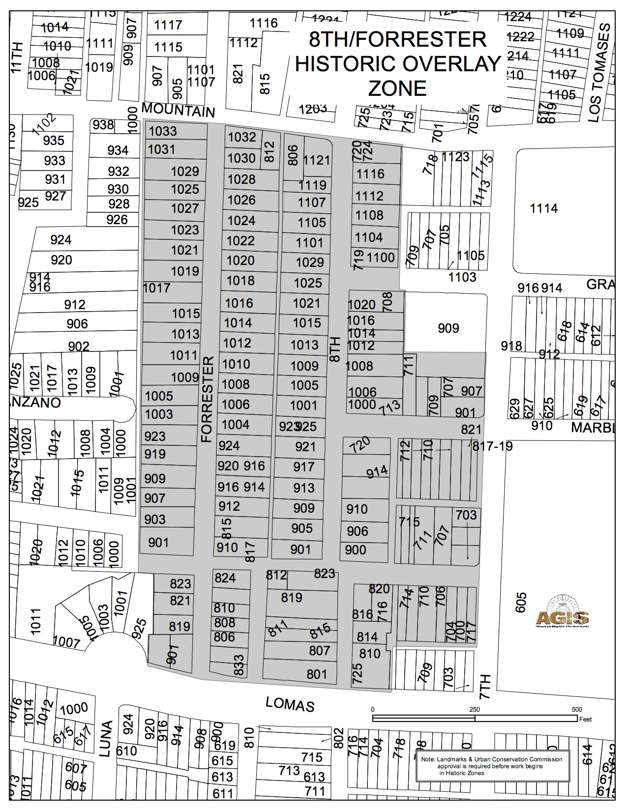 Historic Zone Map Eighth and Forrester
