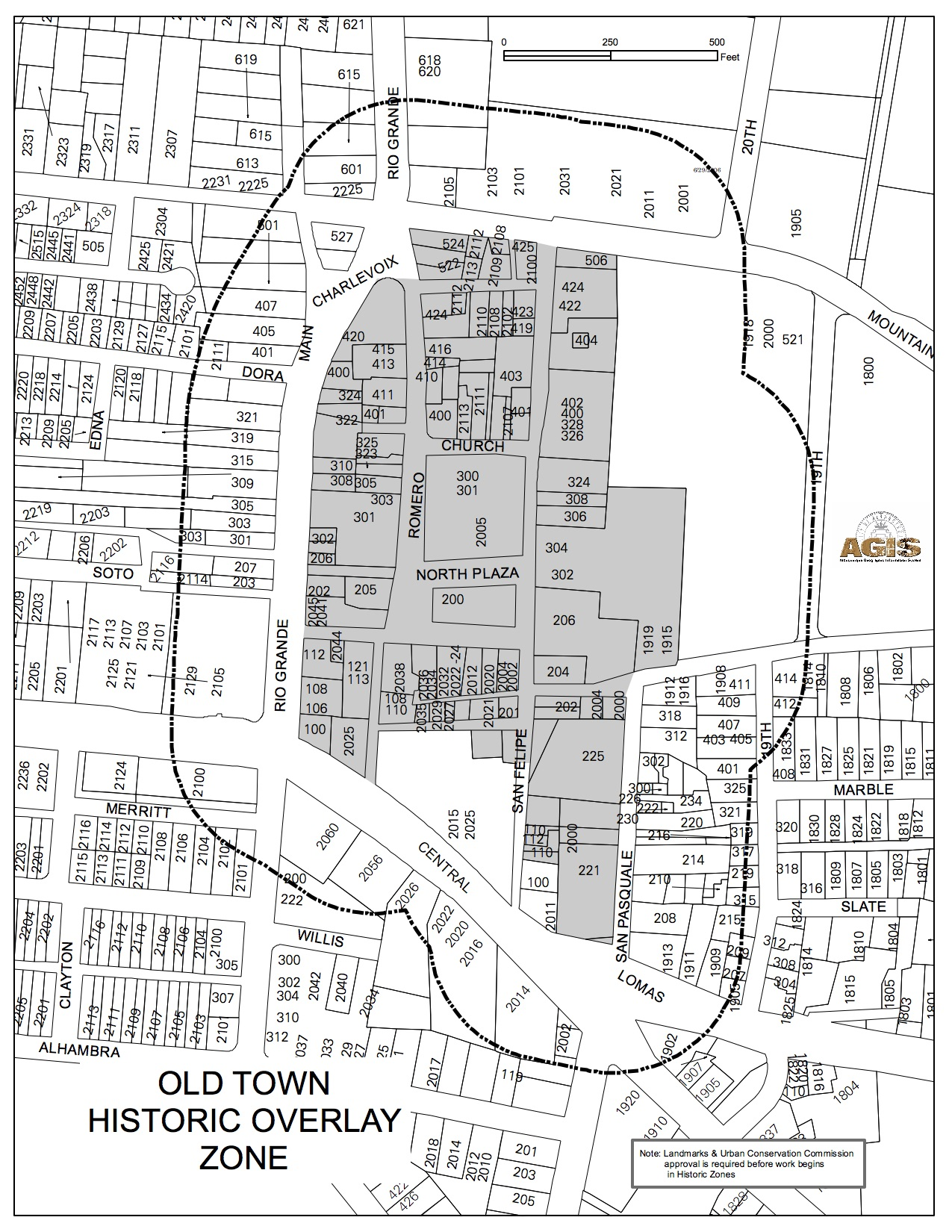 Historic Zone Map Old Town