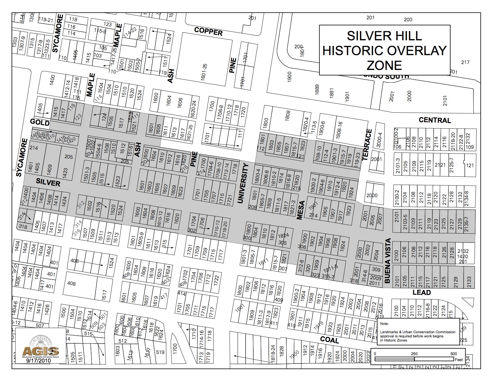 Historic Zone Map Silver Hills