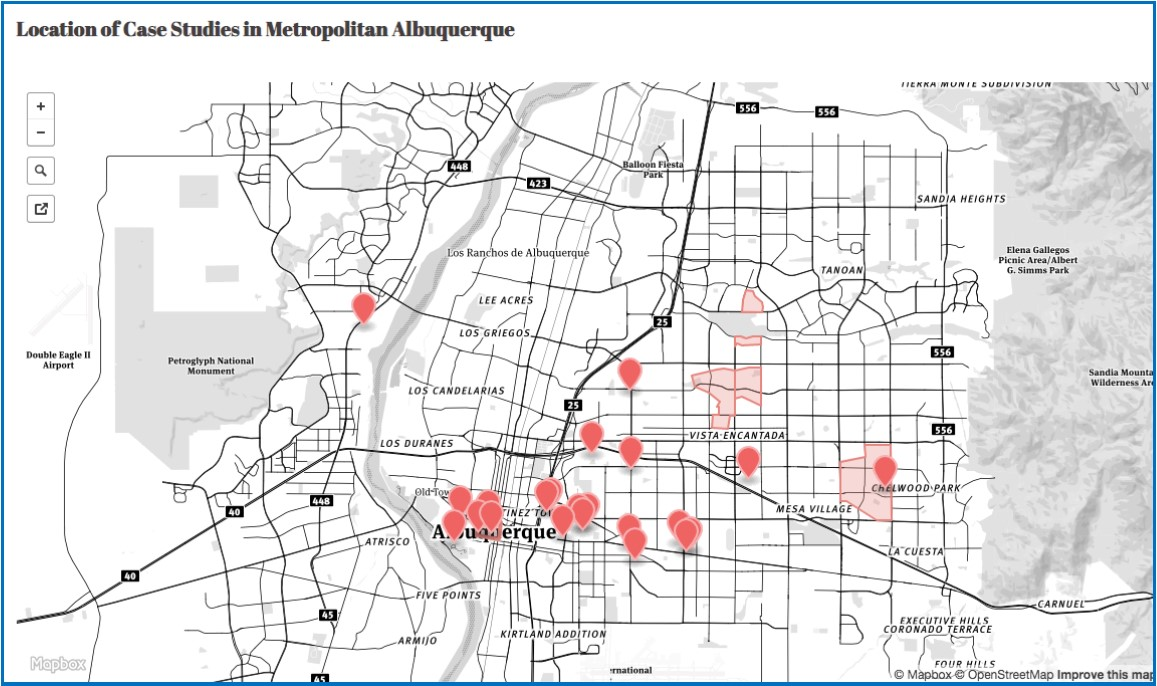 MetroABQ Mid Mod Case Studies Map