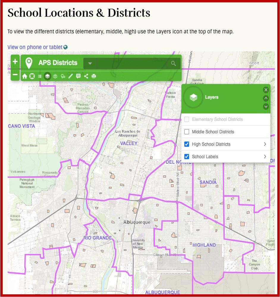 MetroABQ Public Schools Maps