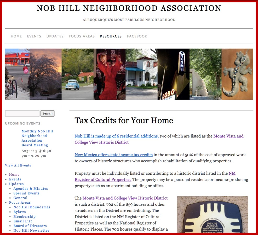 Nob Hill Historic Tax Credits