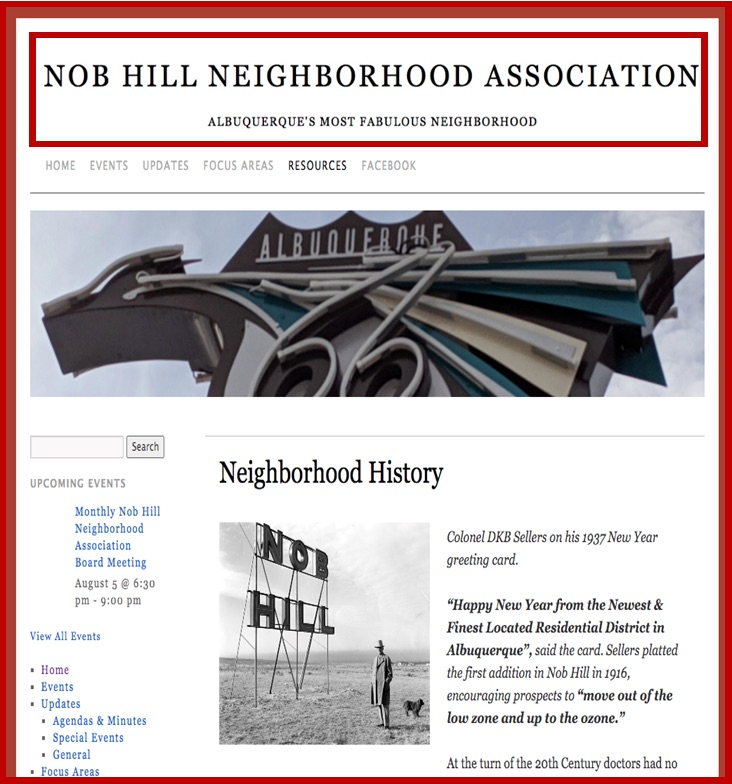 Nob Hill Neighborhood Association