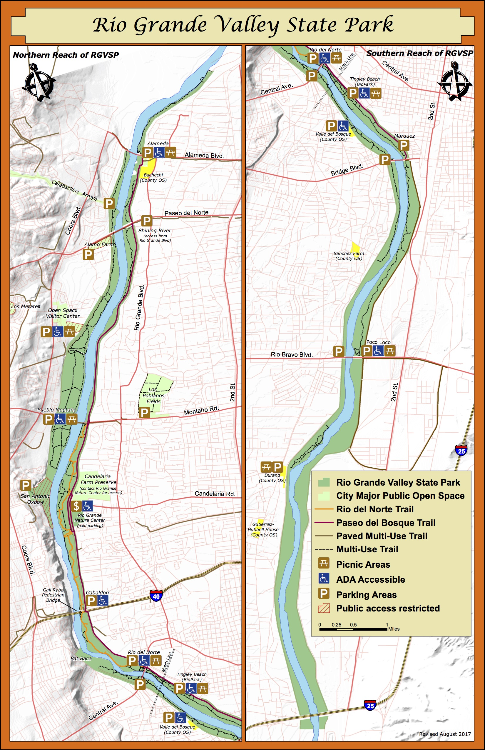Rio Grande Valley State Park Map